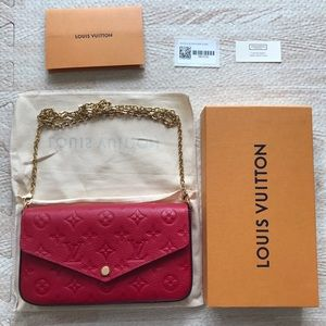 Louis Vuitton Emprintene Felice WOC in Scarlet